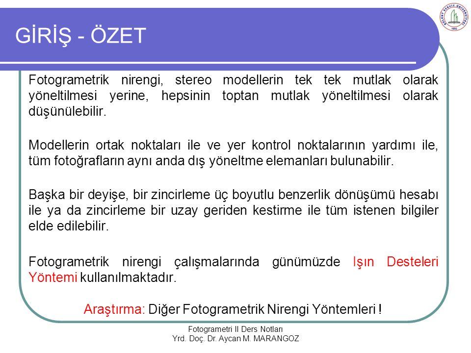 GİRİŞ - ÖZET