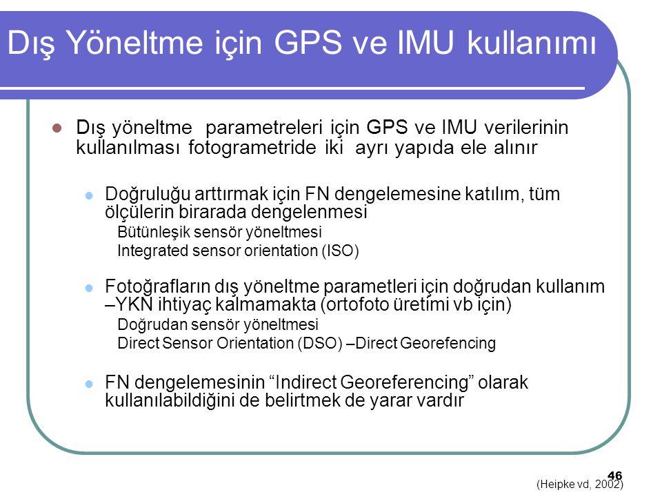 Dış Yöneltme için GPS ve IMU kullanımı