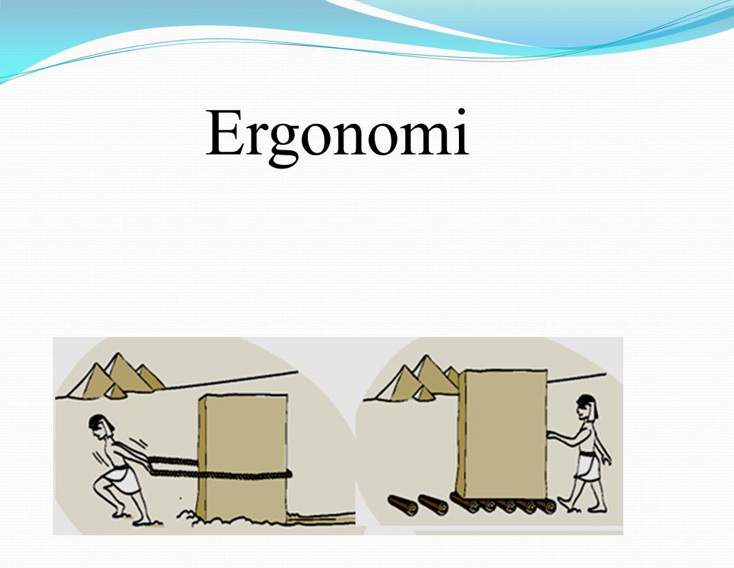 Ergonomi Ergo (iş) nomos (kural / yasa)