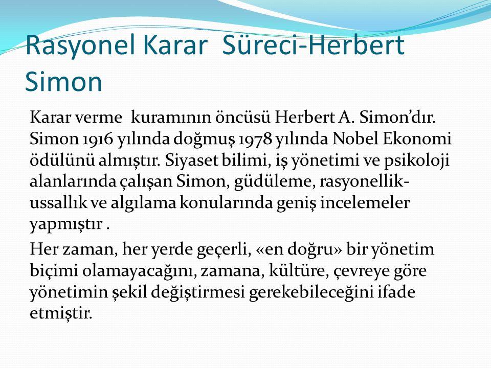 Rasyonel Karar Süreci-Herbert Simon
