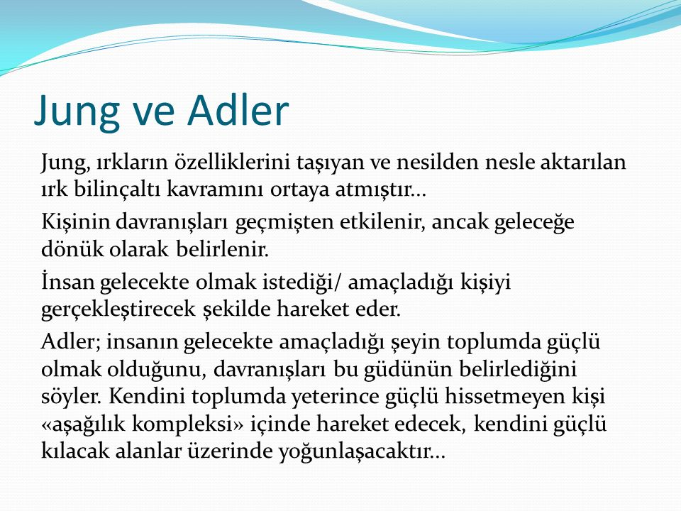 Jung ve Adler