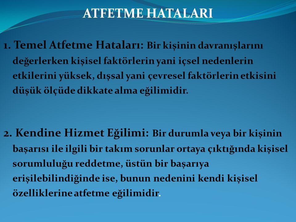 ATFETME HATALARI