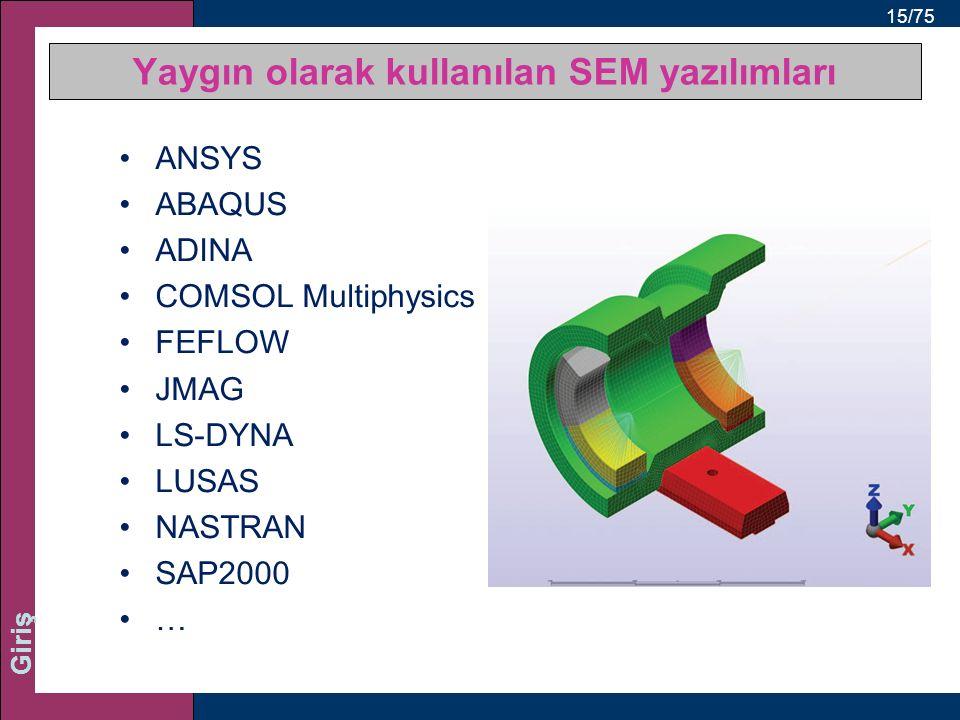 Yaygın olarak kullanılan SEM yazılımları