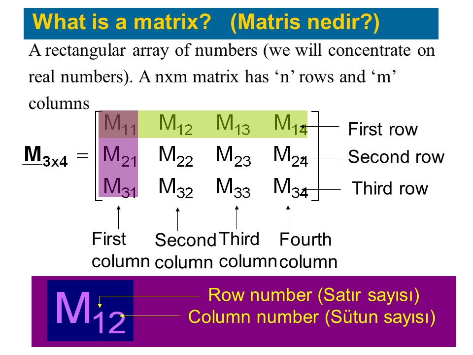 What is a matrix (Matris nedir )