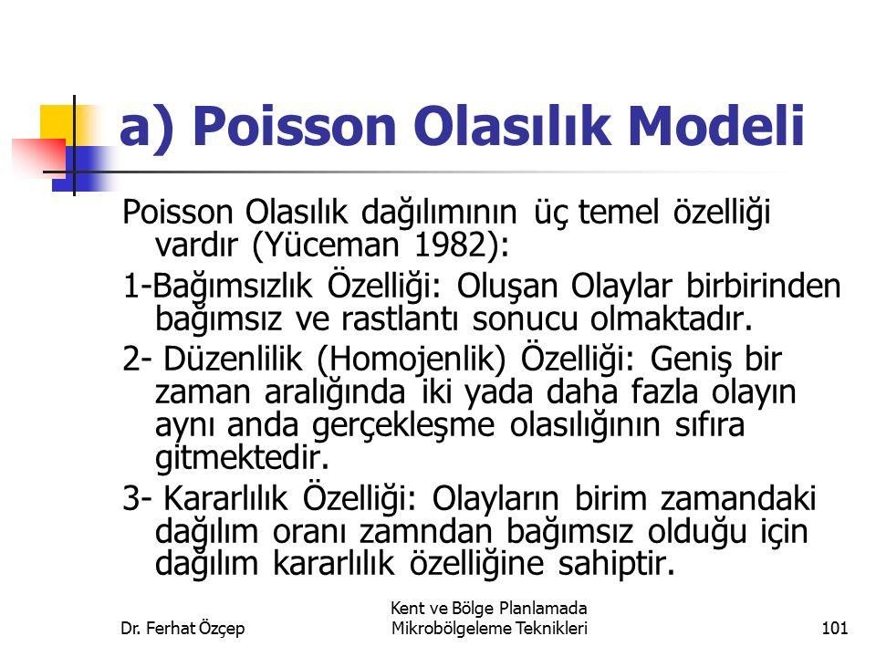 a) Poisson Olasılık Modeli