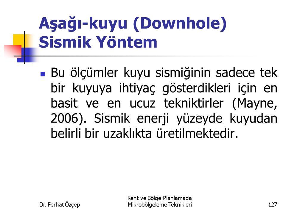 Aşağı-kuyu (Downhole) Sismik Yöntem