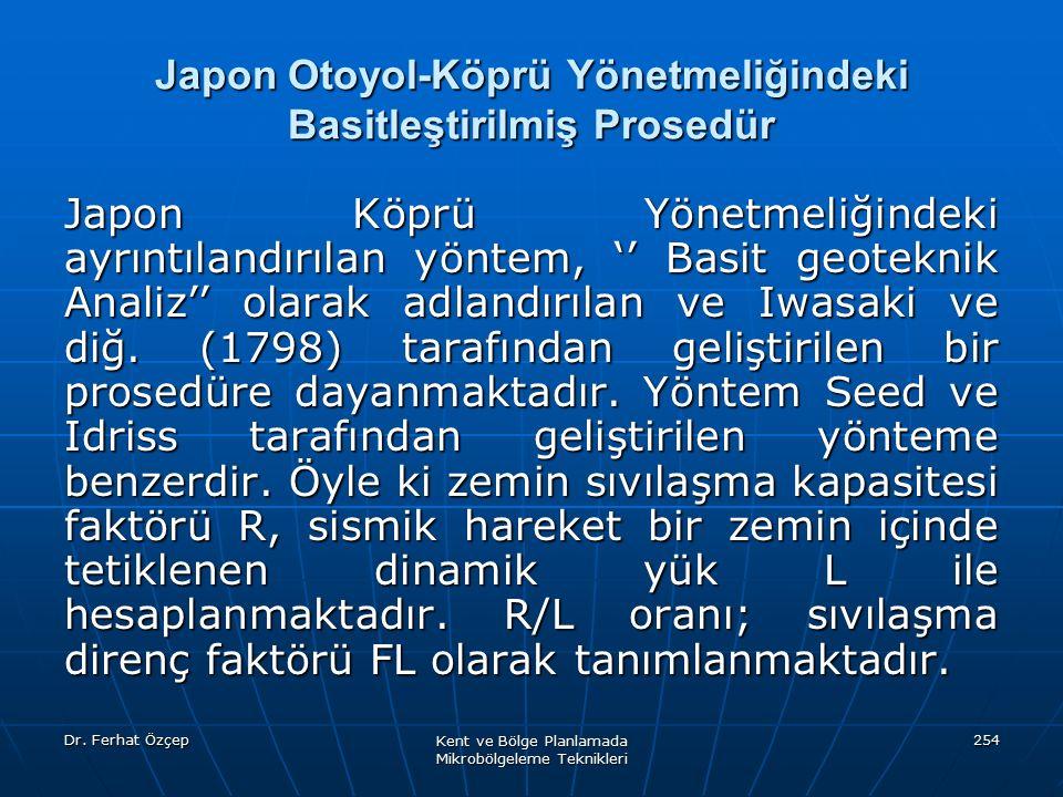 Japon Otoyol-Köprü Yönetmeliğindeki Basitleştirilmiş Prosedür