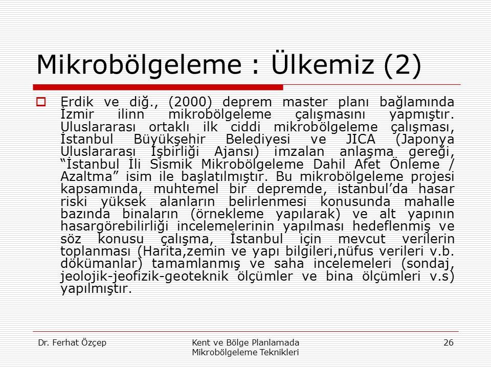 Mikrobölgeleme : Ülkemiz (2)