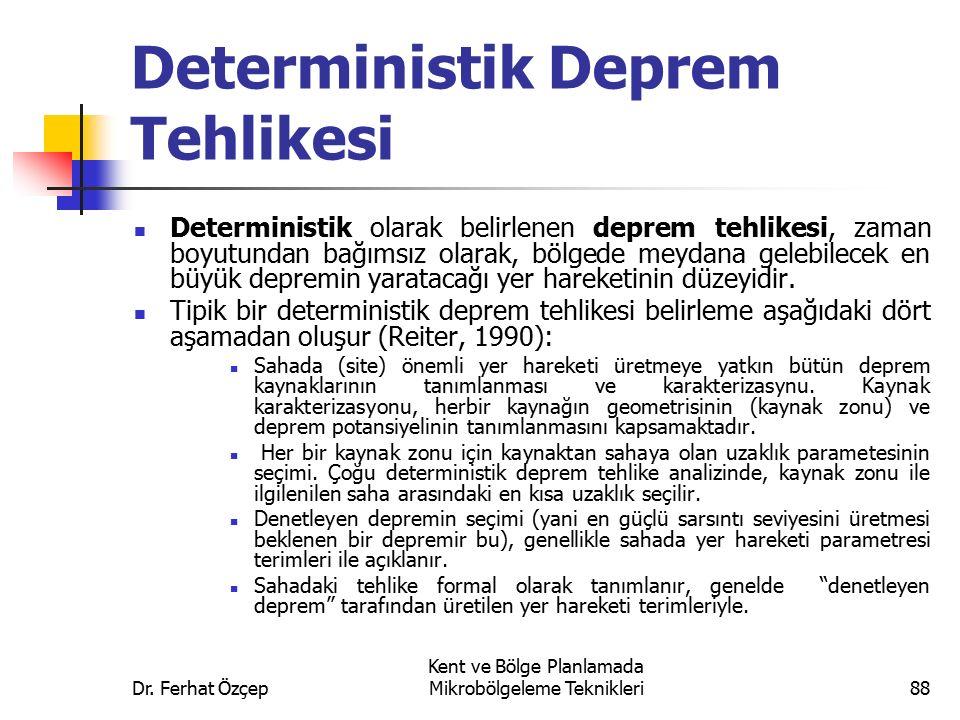 Deterministik Deprem Tehlikesi