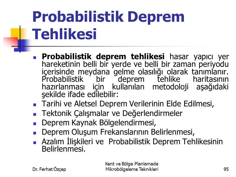Probabilistik Deprem Tehlikesi
