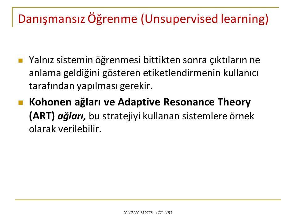 Danışmansız Öğrenme (Unsupervised learning)