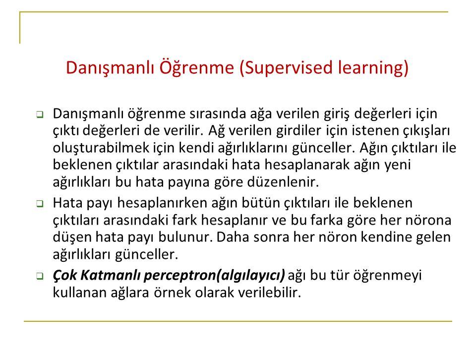 Danışmanlı Öğrenme (Supervised learning)