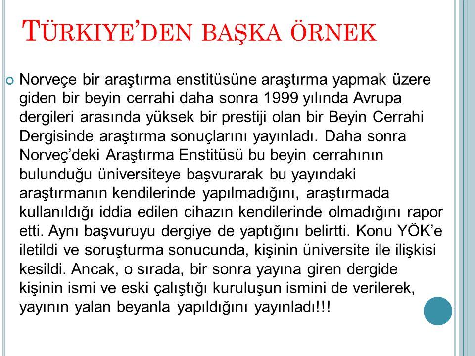 Türkiye'den başka örnek