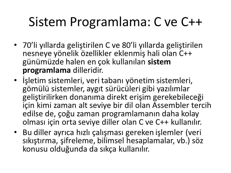 Sistem Programlama: C ve C++