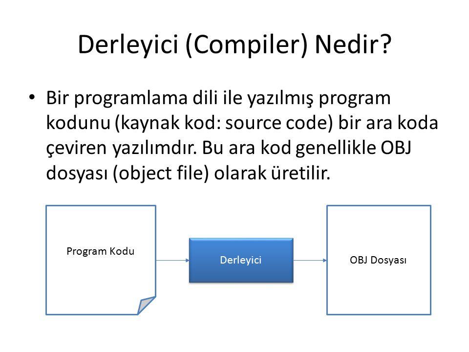 Derleyici (Compiler) Nedir