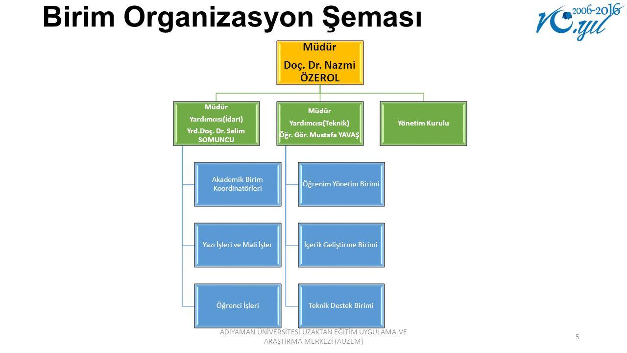 Birim Organizasyon Şeması