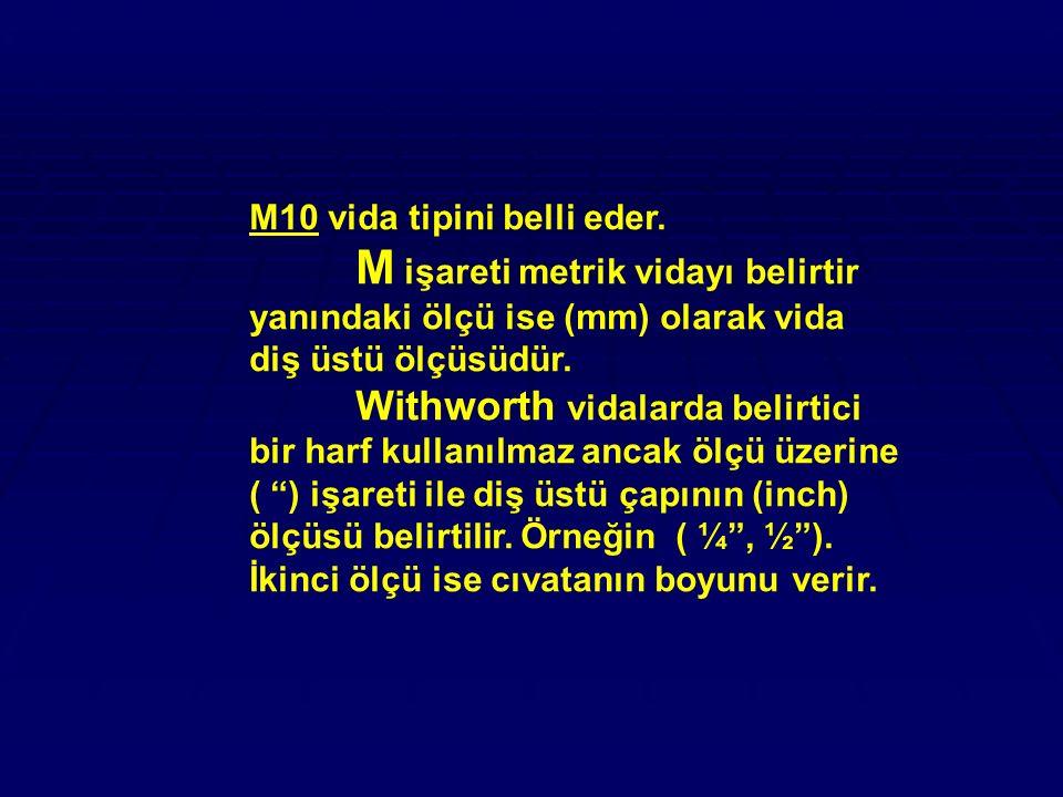 M10 vida tipini belli eder.