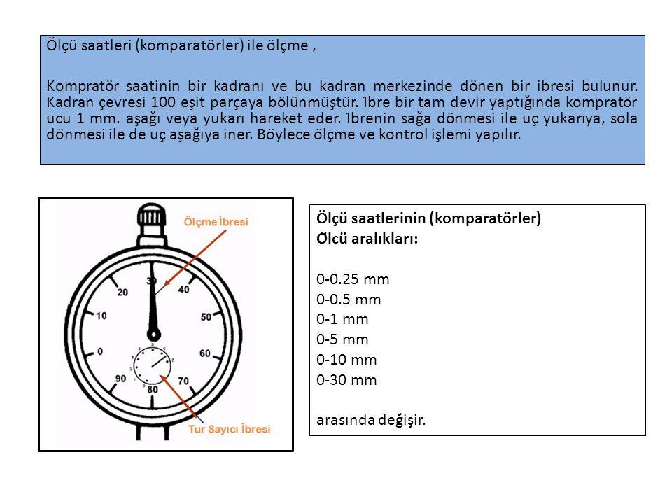 Ölçü saatleri (komparatörler) ile ölçme ,