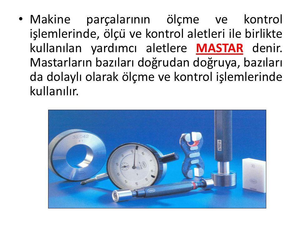 Makine parçalarının ölçme ve kontrol işlemlerinde, ölçü ve kontrol aletleri ile birlikte kullanılan yardımcı aletlere MASTAR denir.