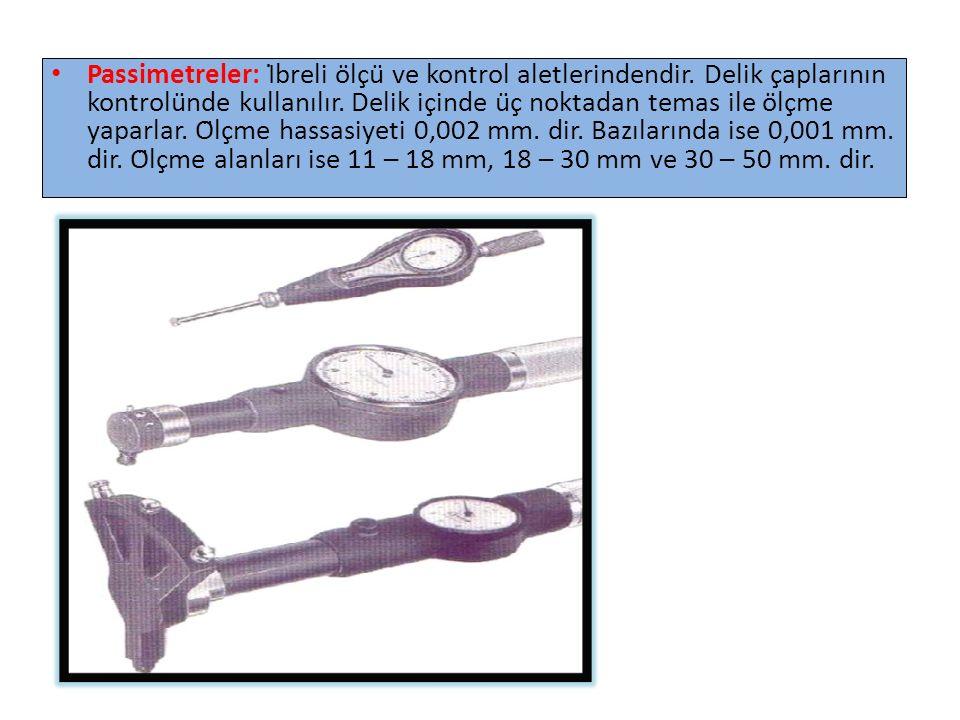 Passimetreler: İbreli ölçü ve kontrol aletlerindendir