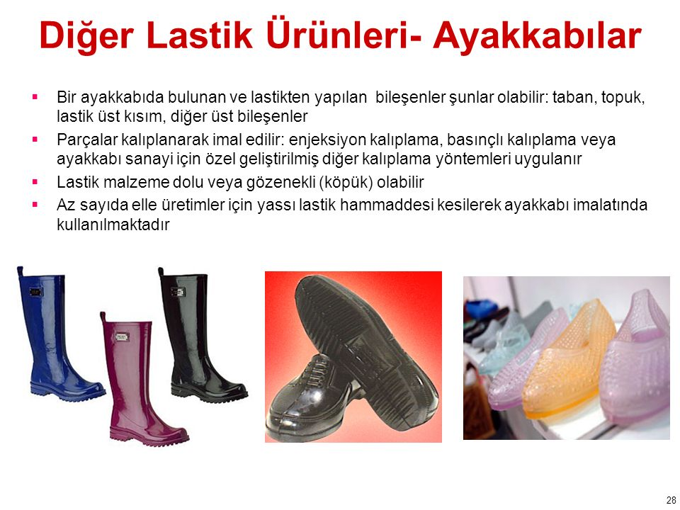 Diğer Lastik Ürünleri- Ayakkabılar