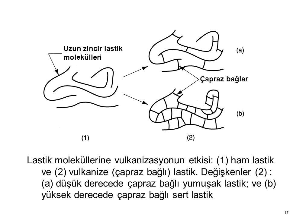 Uzun zincir lastik molekülleri