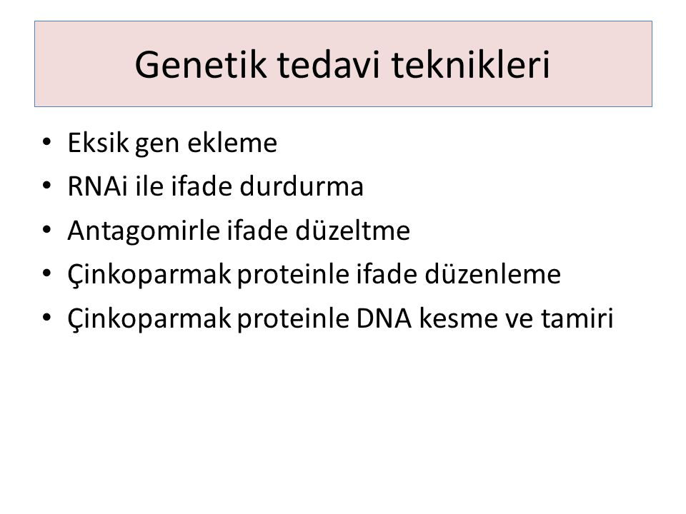 Genetik tedavi teknikleri