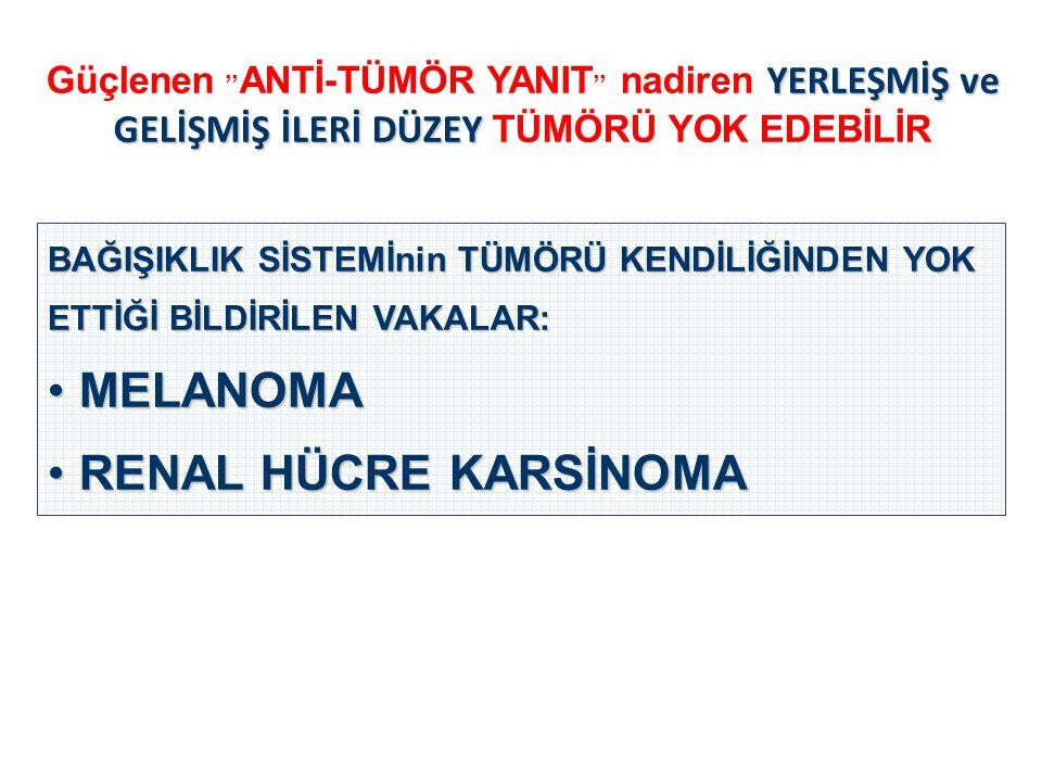 MELANOMA RENAL HÜCRE KARSİNOMA