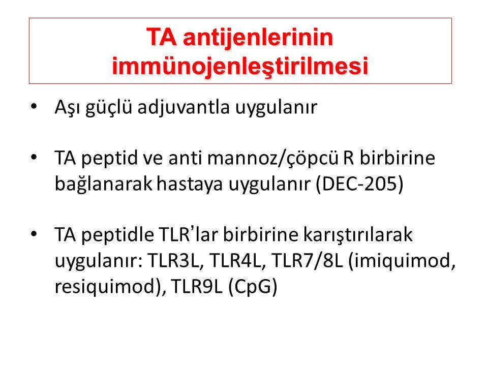 TA antijenlerinin immünojenleştirilmesi