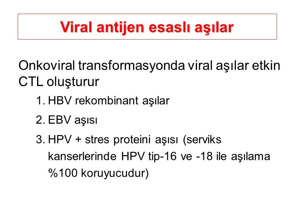 Viral antijen esaslı aşılar