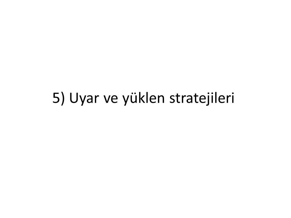 5) Uyar ve yüklen stratejileri