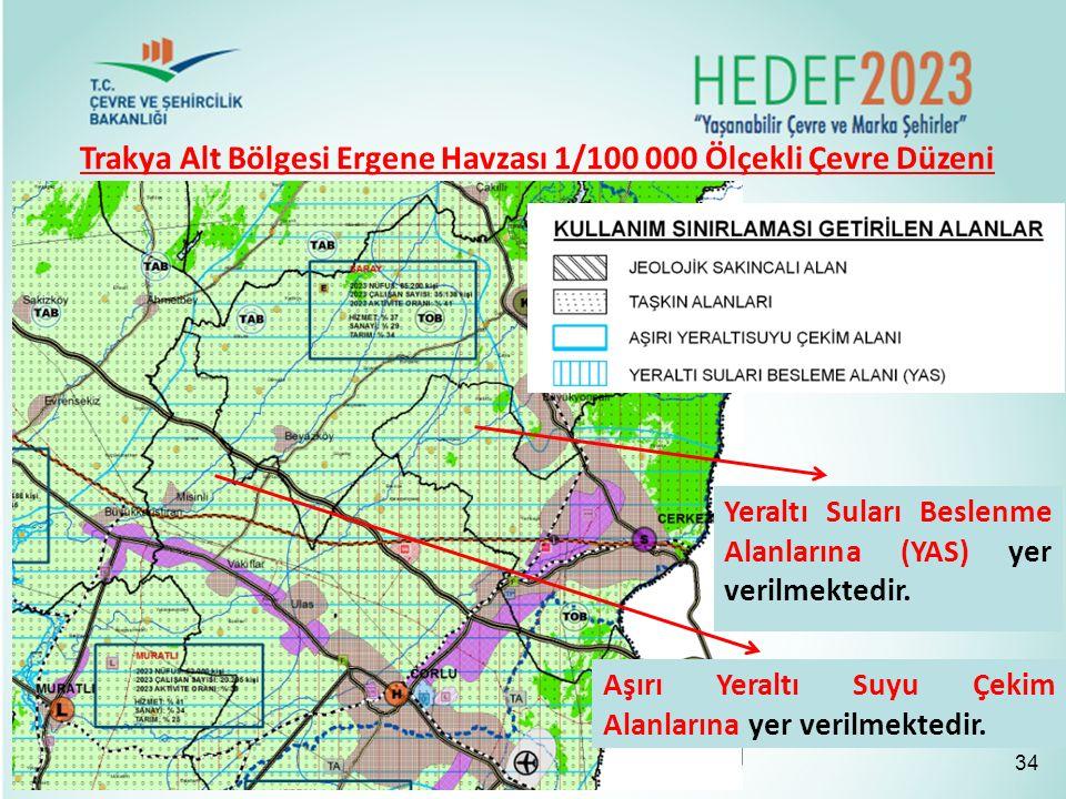 Trakya Alt Bölgesi Ergene Havzası 1/100 000 Ölçekli Çevre Düzeni Planı
