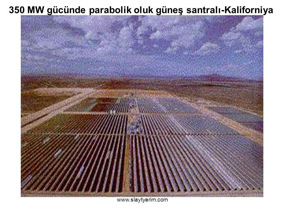 350 MW gücünde parabolik oluk güneş santralı-Kaliforniya