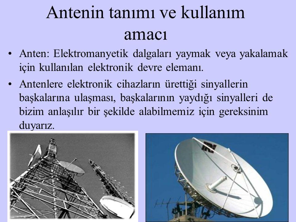 Antenin tanımı ve kullanım amacı