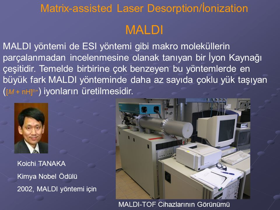 Matrix-assisted Laser Desorption/İonization