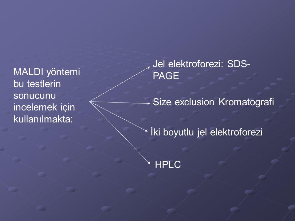 Jel elektroforezi: SDS- PAGE