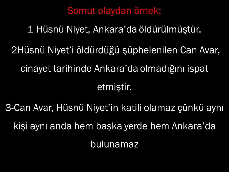 1-Hüsnü Niyet, Ankara'da öldürülmüştür.