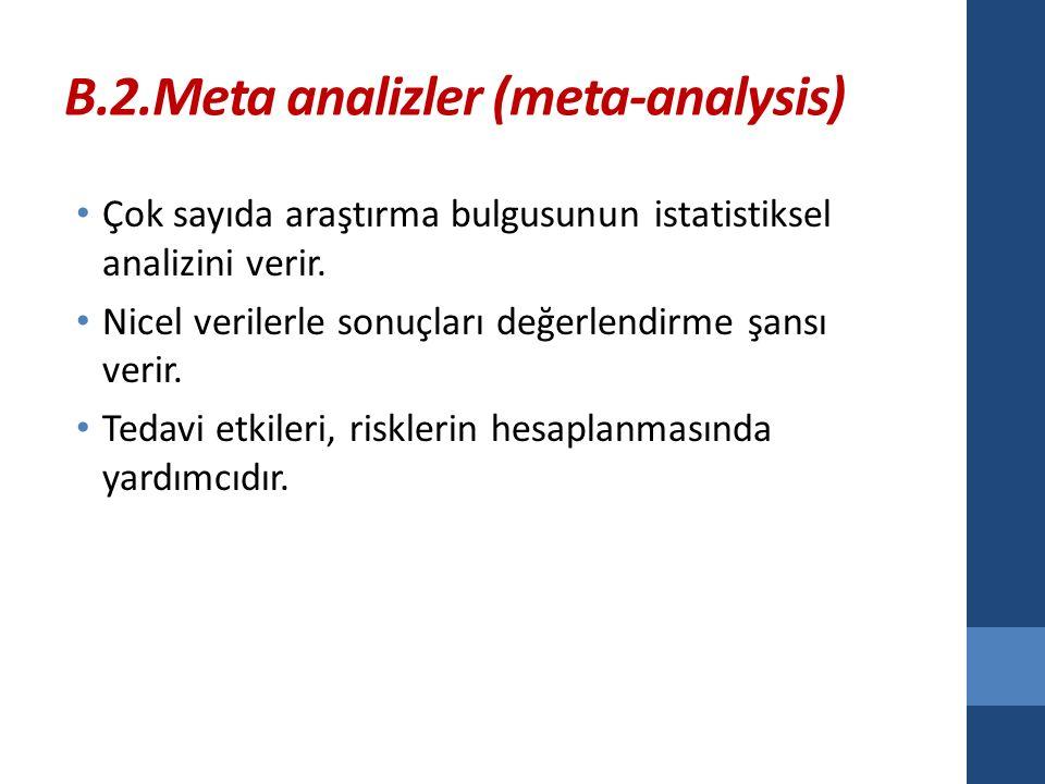 B.2.Meta analizler (meta-analysis)