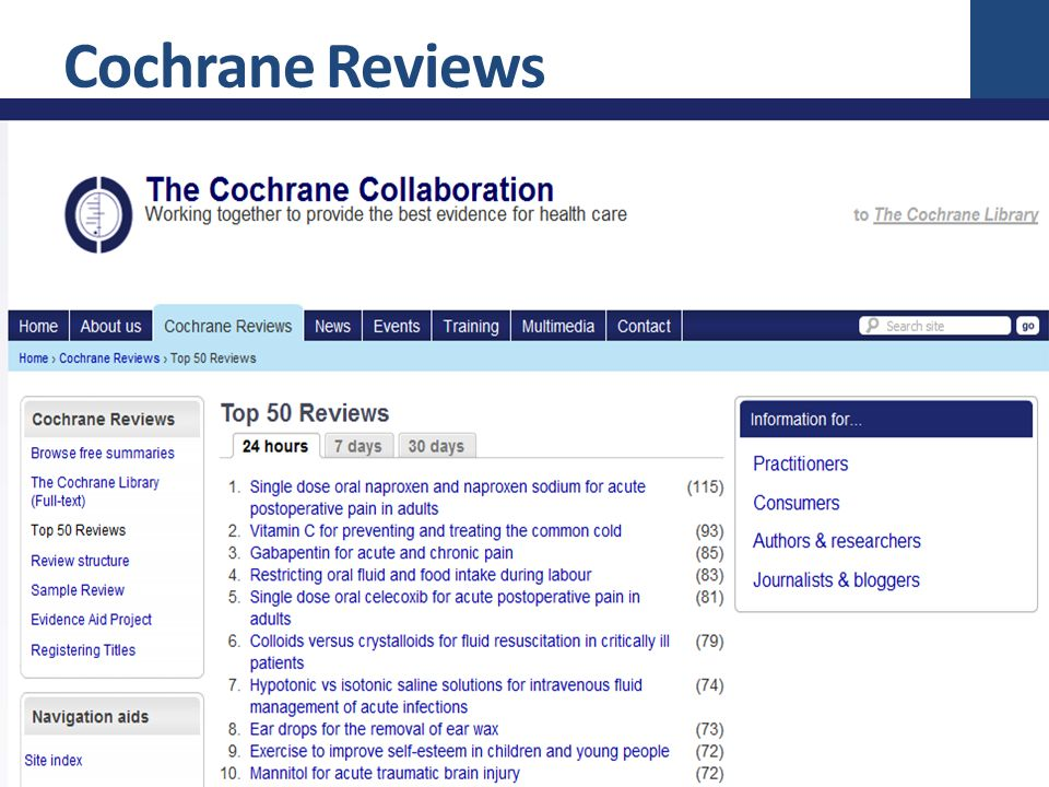 Cochrane Reviews