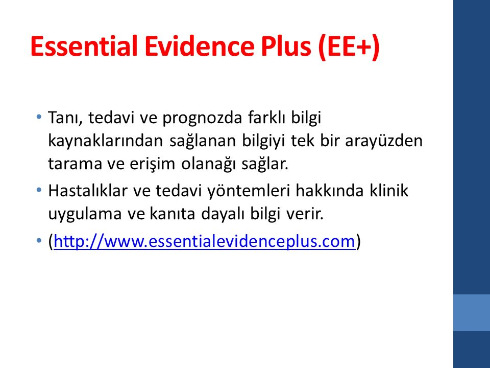 Essential Evidence Plus (EE+)