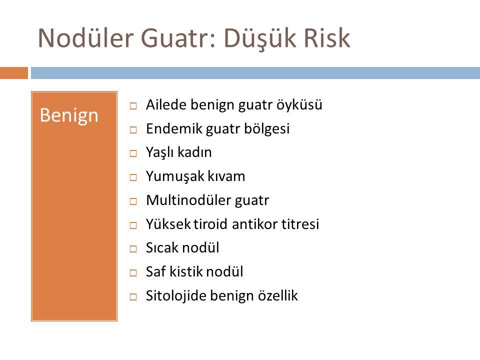 Nodüler Guatr: Düşük Risk