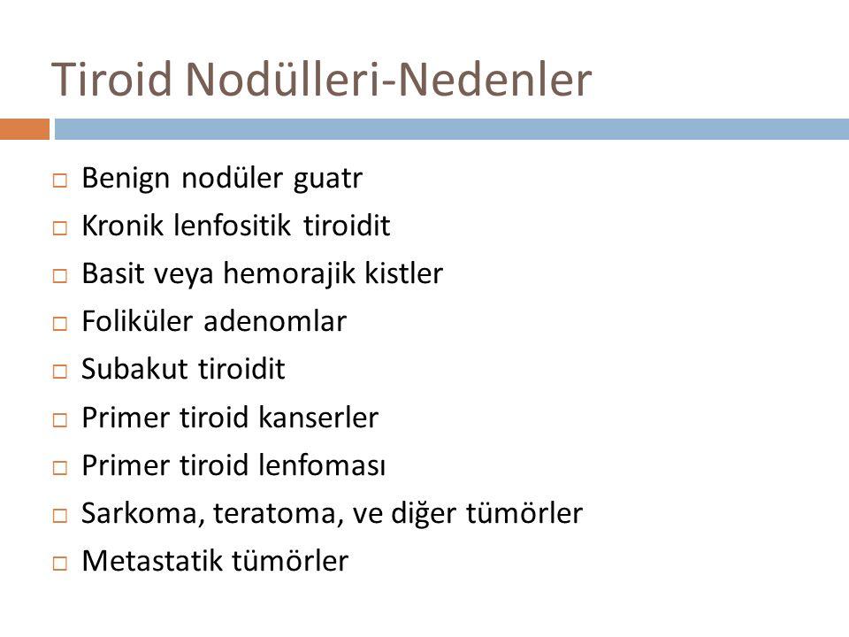 Tiroid Nodülleri-Nedenler