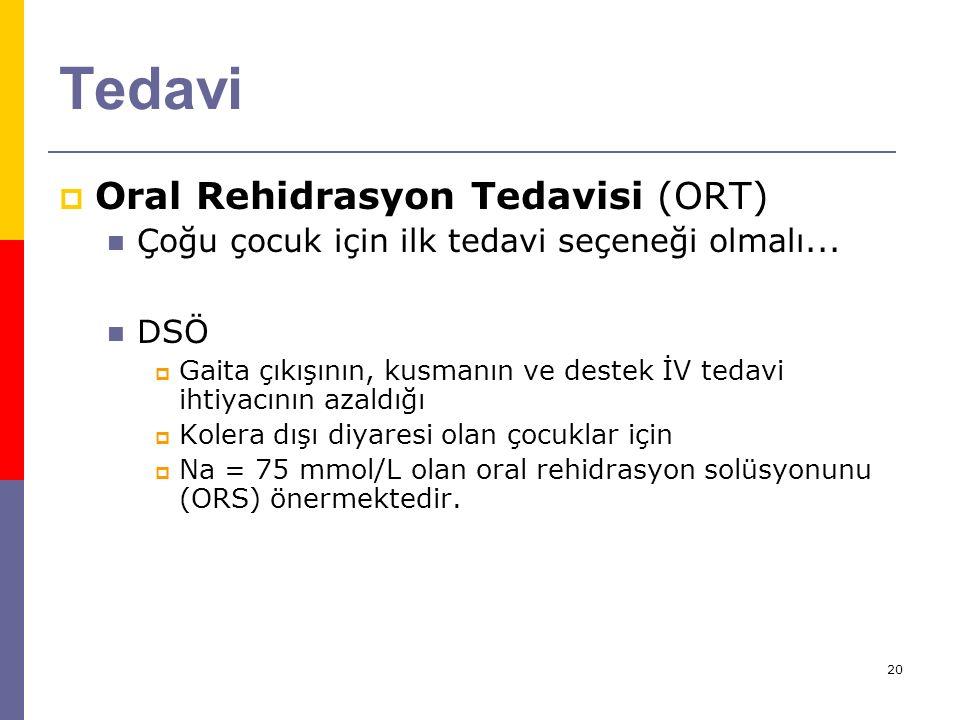 Tedavi Oral Rehidrasyon Tedavisi (ORT)
