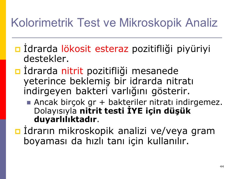 Kolorimetrik Test ve Mikroskopik Analiz