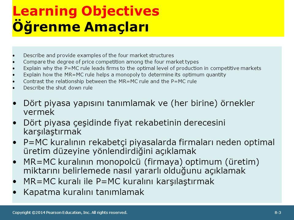 Learning Objectives Öğrenme Amaçları