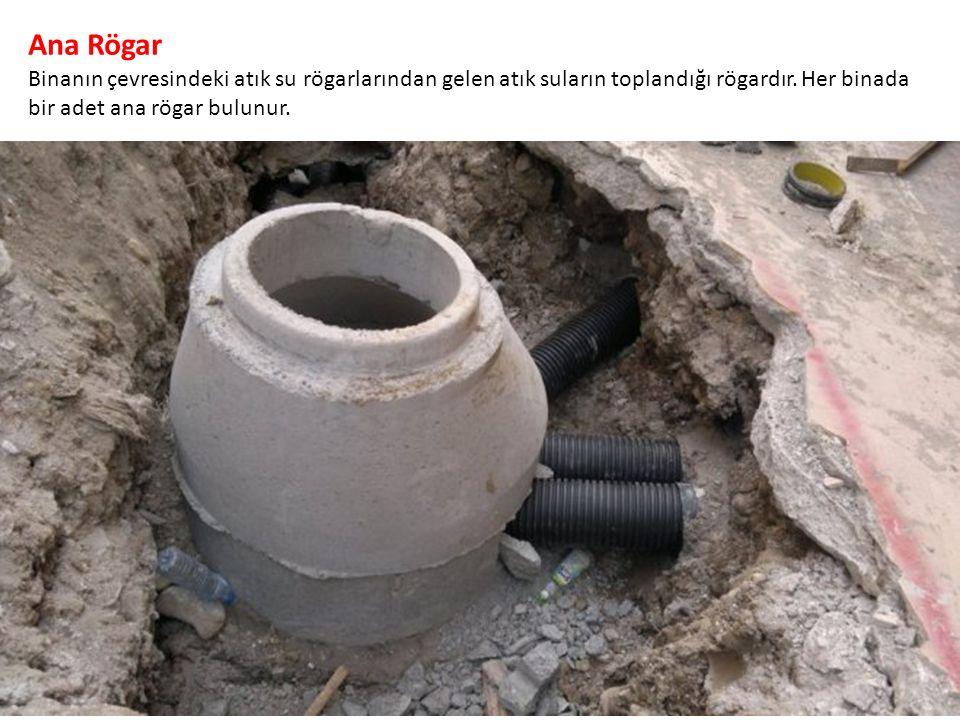 Ana Rögar Binanın çevresindeki atık su rögarlarından gelen atık suların toplandığı rögardır.