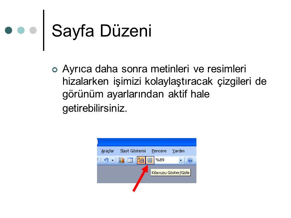 Sayfa Düzeni