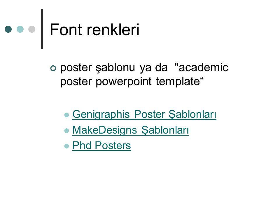 Font renkleri poster şablonu ya da academic poster powerpoint template Genigraphis Poster Şablonları.