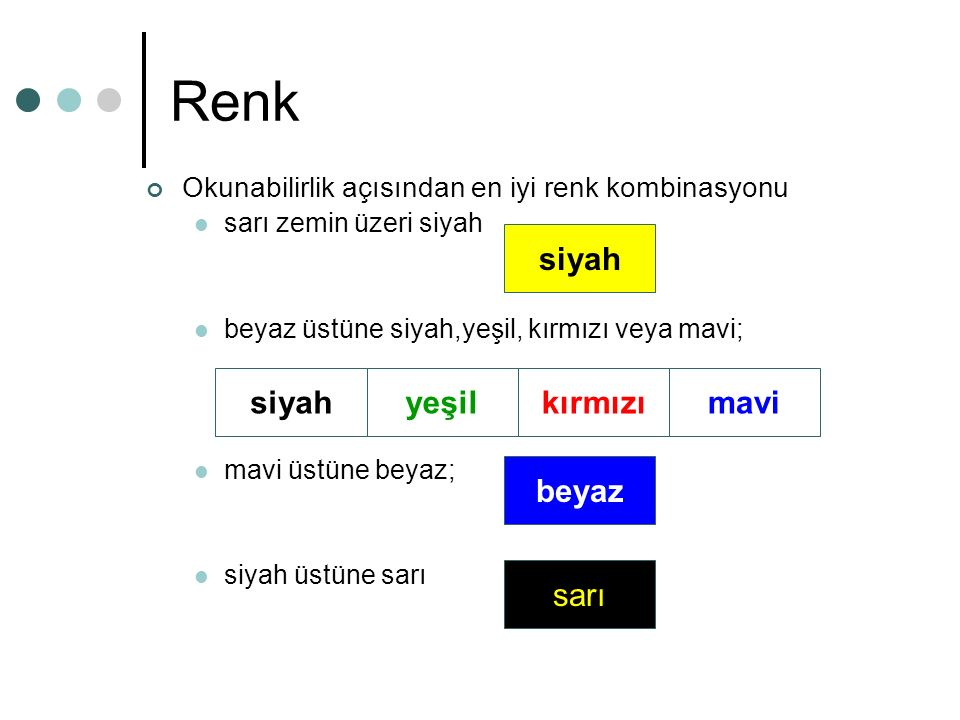 Renk siyah siyah yeşil kırmızı mavi beyaz sarı