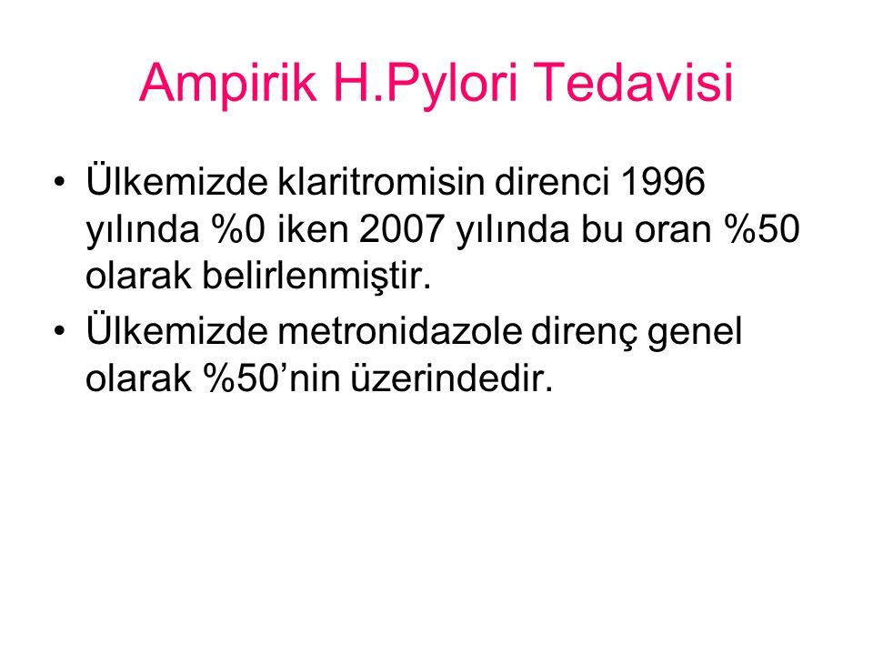 Ampirik H.Pylori Tedavisi